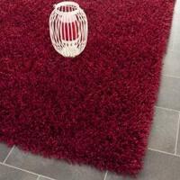 Safavieh Handmade Monterey Shag Red Polyester Area Rug (3' x 5')