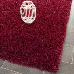 Safavieh Handmade Monterey Shag Red Polyester Area Rug - 8' x 10' - Thumbnail 0