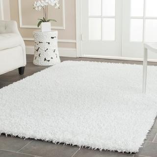 Safavieh Handmade Monterey Shag White Polyester Area Rug (8' x 10')