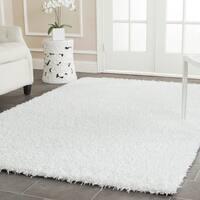 Safavieh Handmade Monterey Shag White Polyester Area Rug - 8' x 10'