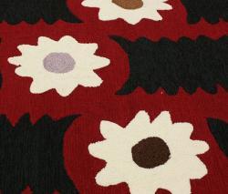 nuLOOM Handmade Polynesia Black Floral Rug (7'6 x 9'6) - Thumbnail 2