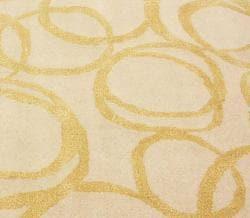 nuLOOM Handmade Beige Swirls Wool Rug (5' x 8')