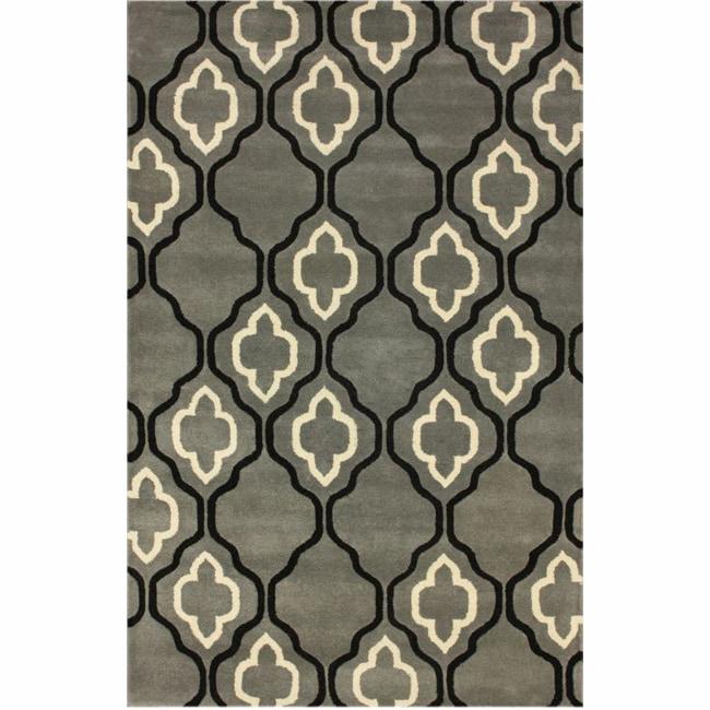nuLOOM Handmade Moroccan Trellis Grey Wool Rug (5' x 8')