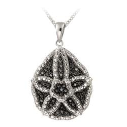 DB Designs Black Diamond Accent Starfish Necklace