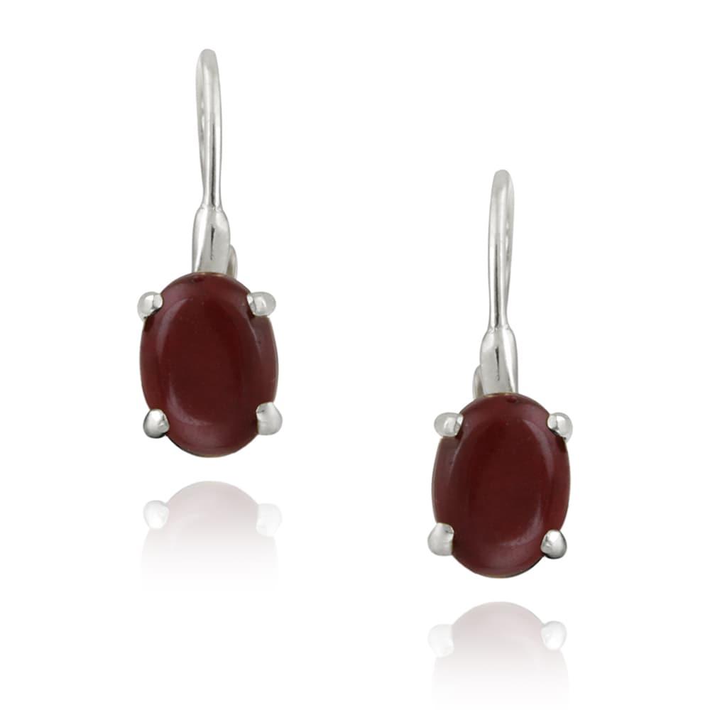 Glitzy Rocks Sterling Silver Coral Dangle Earrings (2 1/2ct TGW)