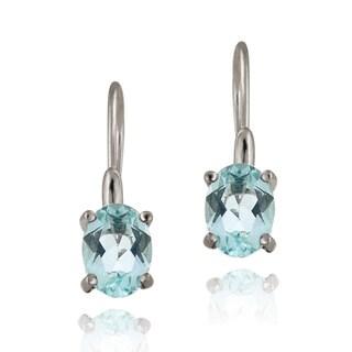 Glitzy Rocks Sterling Silver Gemstone Dangle Earrings (3ct TGW)
