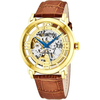 Stuhrling Original Men's Winchester 44 Skeleton Automatic Leather Strap Watch (2 options available)