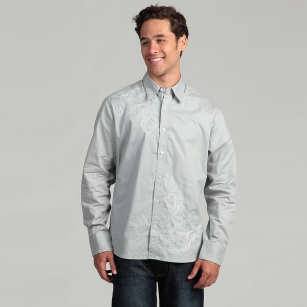Cultura Men's Grey Stitch Woven Shirt