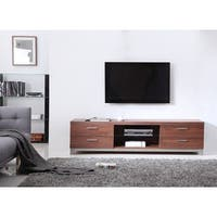 B Modern Animator Light Walnut Black Modern Ir Tv Stand