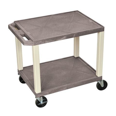 H. Wilson Tuffy Plastic Multipurpose Rolling Cart with Locking Brakes