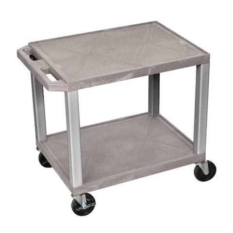 H. Wilson Tuffy Plastic Multipurpose Rolling Cart with Locking Brakes