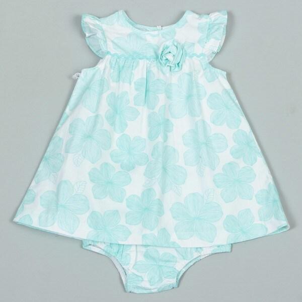 Little Me Infant Girl's Mint Green Woven Dress FINAL SALE