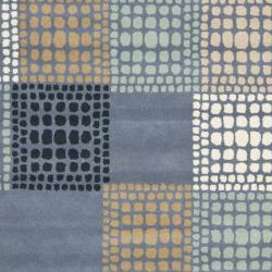 Safavieh Handmade Chatham Squares Grey New Zealand Wool Rug (4' x 6')