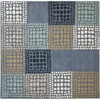 Safavieh Handmade Chatham Squares Grey New Zealand Wool Rug - 7' x 7' Square