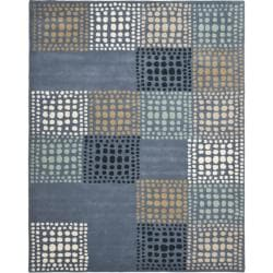 Safavieh Handmade Chatham Squares Grey New Zealand Wool Rug - 8' x 10' - Thumbnail 0
