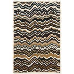 Safavieh Handmade Chatham Zig-Zag Brown New Zealand Wool Rug (2'6 x 4')