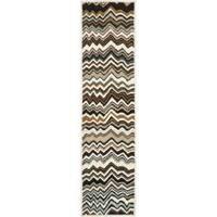 Safavieh Handmade Chatham Zig-Zag Brown New Zealand Wool Rug - 2'3 x 9'