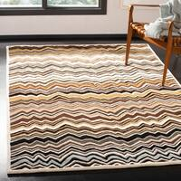 Safavieh Handmade Chatham Zig-Zag Brown New Zealand Wool Rug - 5' x 8'