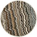 Safavieh Handmade Chatham Zig-Zag Brown New Zealand Wool Rug - 7' x 7' Round