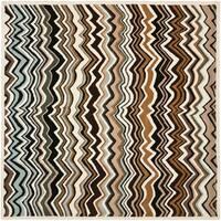 Safavieh Handmade Chatham Zig-Zag Brown New Zealand Wool Rug - 7' x 7' Square
