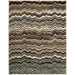 Safavieh Handmade Chatham Zig-Zag Brown New Zealand Wool Rug - 8' x 10' - Thumbnail 0