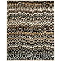 Safavieh Handmade Chatham Zig-Zag Brown New Zealand Wool Rug - 8' x 10'