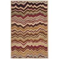 Safavieh Handmade Chatham Zig-Zag Red New Zealand Wool Rug - 2'6 x 4'