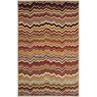 Safavieh Handmade Chatham Zig-Zag Red New Zealand Wool Rug - 5' x 8'