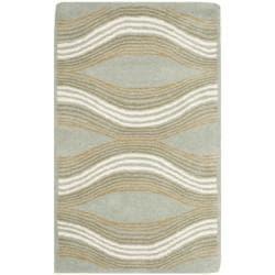 Safavieh Handmade Chatham Waves Blue New Zealand Wool Rug (2'6 x 4')