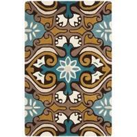 "Safavieh Handmade Chatham Enchant Blue New Zealand Wool Rug - 2'-6"" x 4'"