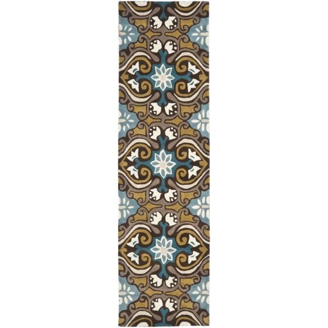 "Safavieh Handmade Chatham Enchant Blue New Zealand Wool Rug - 2'3"" x 9'"