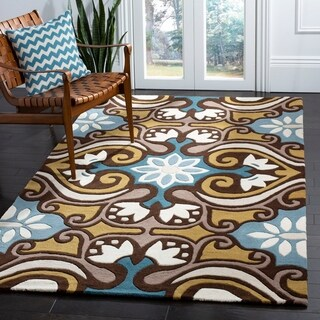 Safavieh Handmade Chatham Enchant Blue New Zealand Wool Rug (7' Square)