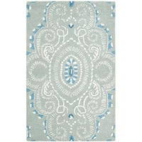"Safavieh Handmade Chatham Mystic Blue New Zealand Wool Rug - 2'-6"" x 4'"