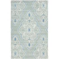 Safavieh Handmade Chatham Mystic Blue New Zealand Wool Rug - 4' x 6'