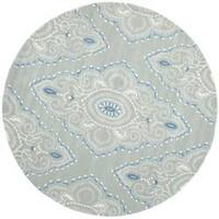 Safavieh Handmade Chatham Mystic Blue New Zealand Wool Rug - 7' x 7' Round