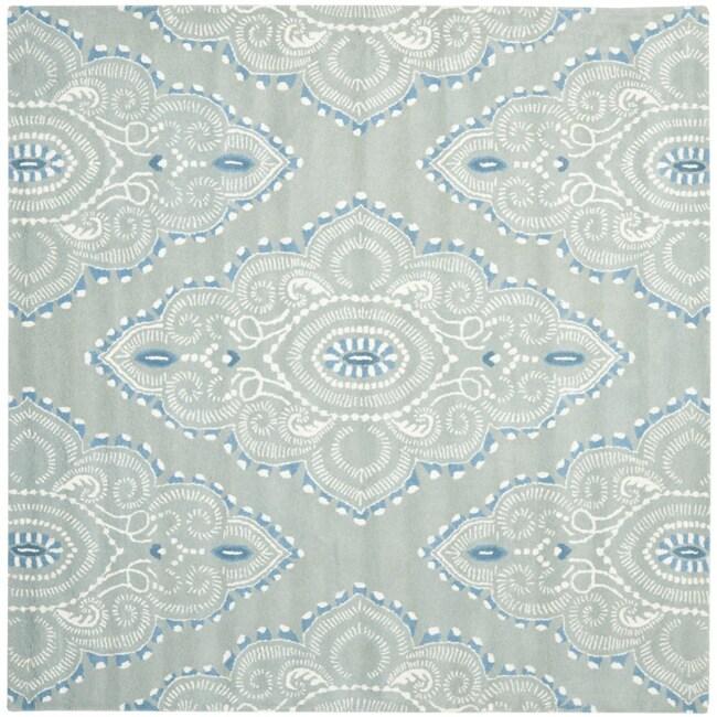Safavieh Handmade Chatham Mystic Blue New Zealand Wool Rug (7' Square)