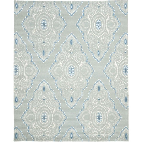 Safavieh Handmade Chatham Mystic Blue New Zealand Wool Rug - 8' x 10'