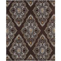 Safavieh Handmade Chatham Mystic Brown New Zealand Wool Rug - 8' x 10'