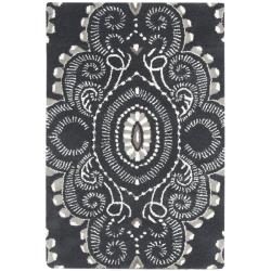 Safavieh Handmade Chatham Mystic Dark Grey New Zealand Wool Rug (2'6 x 4')