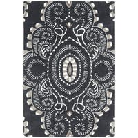 "Safavieh Handmade Chatham Mystic Dark Grey New Zealand Wool Rug - 2'6"" x 4'"