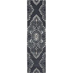"Safavieh Handmade Chatham Mystic Dark Grey New Zealand Wool Rug - 2'3"" x 9' - Thumbnail 0"