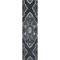"Safavieh Handmade Chatham Mystic Dark Grey New Zealand Wool Rug - 2'3"" x 9'"