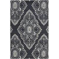 Safavieh Handmade Chatham Mystic Dark Grey New Zealand Wool Rug - 5' x 8'