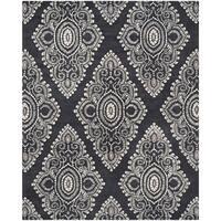 Safavieh Handmade Chatham Mystic Dark Grey New Zealand Wool Rug - 8' x 10'