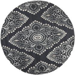Safavieh Handmade Chatham Mystic Dark Grey New Zealand Wool Rug (7' Round)
