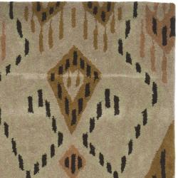 Safavieh Handmade Chatham Journey Brown New Zealand Wool Rug (2'3 x 9') - Thumbnail 1