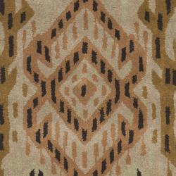 Safavieh Handmade Chatham Journey Brown New Zealand Wool Rug (2'3 x 9') - Thumbnail 2