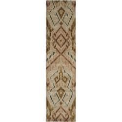 Safavieh Handmade Chatham Journey Brown New Zealand Wool Rug (2'3 x 9')