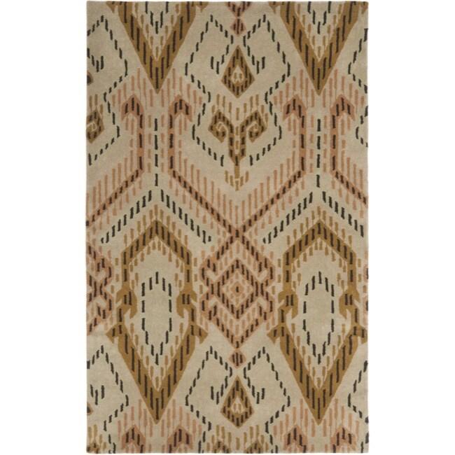 Safavieh Handmade Chatham Journey Brown New Zealand Wool Rug (4' x 6')