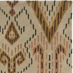 Safavieh Handmade Chatham Journey Brown New Zealand Wool Rug (4' x 6') - Thumbnail 1
